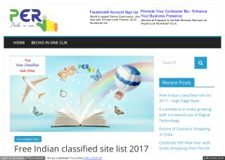 Free Indian Classified Site List 2017 with high Page Rank