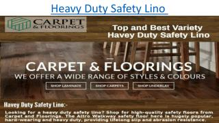 Heavy duty safety lino from Carpet And Flooring