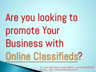Local Business Classified Ads Chandigarh