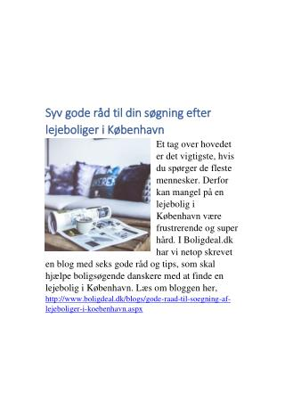 Find lejebolig i København med disse gode råd!