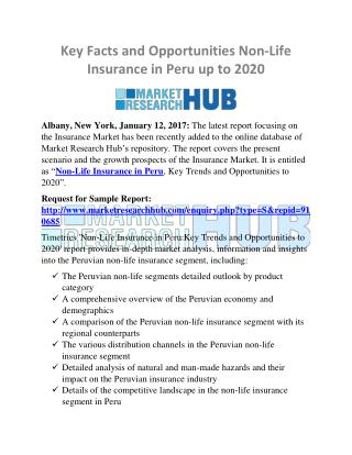 Key Facts and Opportunities Non-Life Insurance in Peru Market Research Report 2020