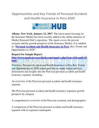 Opportunities and Key Trends of Personal Accident and Health Insurance in Peru 2020