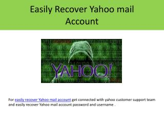 Steps to recover Yahoo mail account