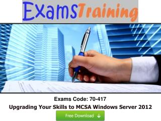Microsoft 70-417 Real Exam Questions With Answers