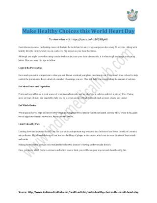 Make Healthy Choices this World Heart Day
