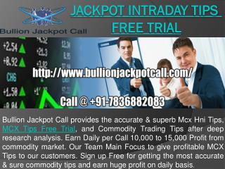 Jackpot Intraday Tips Free Trial