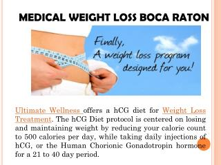 Medical weight loss treatment with hcg diet - Ultimate Wellness LLC