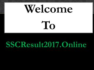 SSC Exam Result 2017 Bangladesh