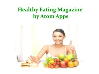 Healthy Eating Iphone App