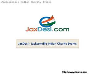 JaxDesi - Jacksonville Indian Charity Events