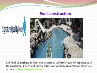 Signature quality pools