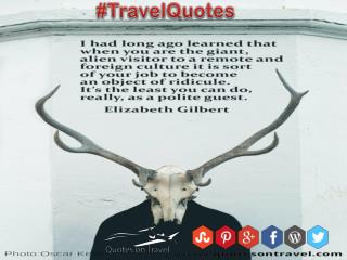Funny Travel Quotes And Sayings by Elizabeth Gilbert - QuotesOnTravel.com