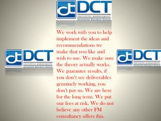 Facility Management Servises Offered by DCT Facility Management