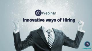 Webinar On Innovative Ways Of Hiring