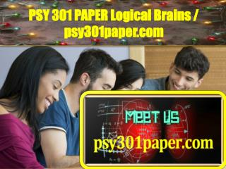 PSY 301 PAPER Logical Brains / psy301paper.com