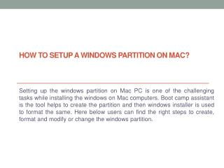 Set up a Windows partition on your Mac - 8774606400