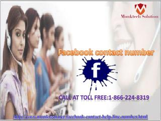 Use Facebook Contact Number 1-866-224-8319 for US people only