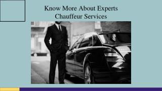 Taking chauffeur services has become an important part of the everyday life of people in order to ensure safety on the r