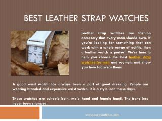 Best Leather Strap Watches