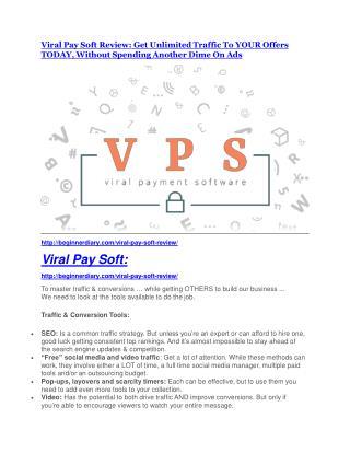 Viral Pay Soft review & SECRETS bonus of Viral Pay Soft