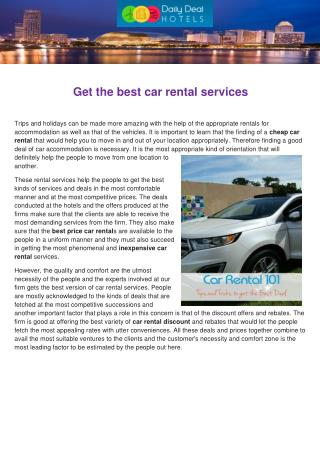 Get the best car rental services