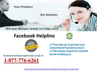Come To Facebook Helpline  @1-877-776-6261 for Quality Assistance