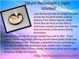 Taksim Restaurant | Izaka Istanbul