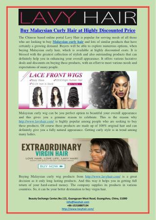 Buy Malaysian Curly Hair at Highly Discounted Price
