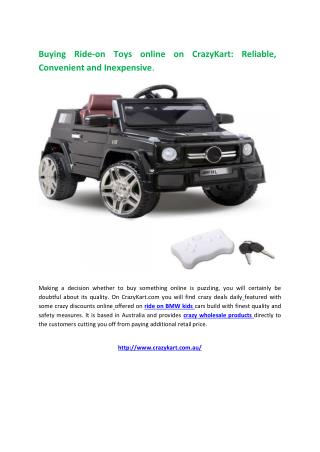 Buying Ride On Toys online on CrazyKart