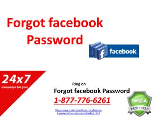 Dial Forgot facebook Password @1-877-776-6261 Number for Full Fletched Help
