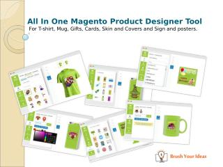 All in one magento product design tool for t-shirt, gift, card, sign, covers, skin and posters