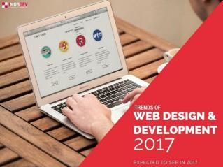 Top 12 Web Design & Development Trends to expect in 2017
