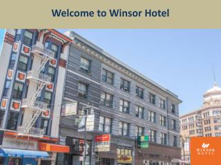 Winsor Hotel: Extended Stay Hotels in San Francisco