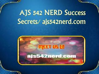 AJS 542 NERD Success Secrets/ ajs542nerd.com