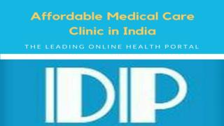 Affordable Medical Care Clinic in India