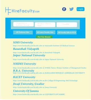 Latest Academic Jobs In India