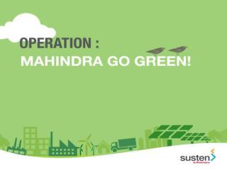 Mahindra Go Green