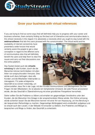 Grow your business with virtual references