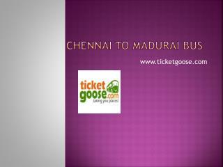 Chennai to Madurai Bus