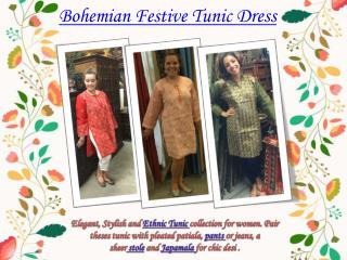Bohemian Festive Tunic Dress