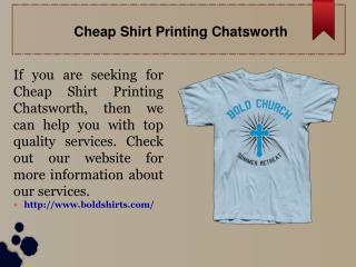 Cheap Shirt Printing Chatsworth