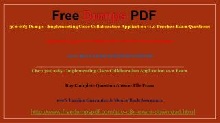 300-085 Practic Questions