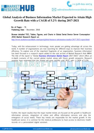 Business Information Market Research Report 2021