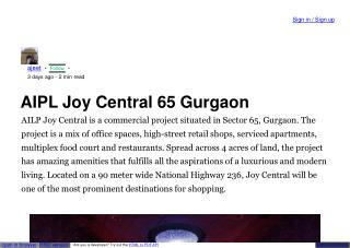 Retail Shop in  sector 65 Gurgaon
