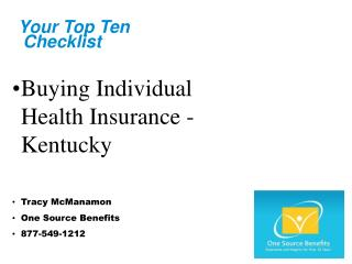 Individual Health Insurance Kentucky