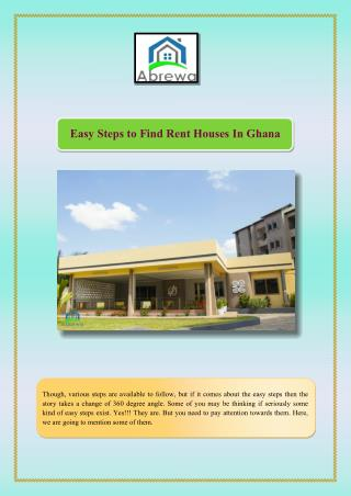Easy Steps To Find Rent Houses In Ghana