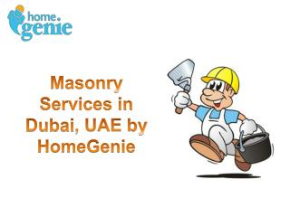 Masonry Services in Dubai, UAE