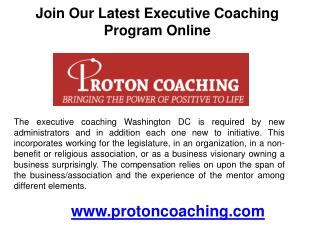 Join our latest executive coaching program online