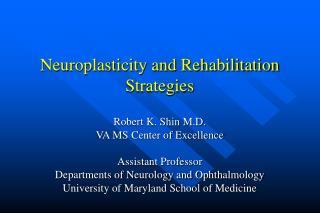 Neuroplasticity and Rehabilitation Strategies