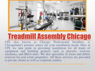 Fitness equipment installation Chicago